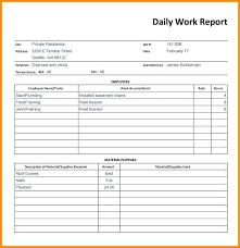 Employee Daily Report Template Nlpcoaching Me