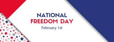 national freedom day february 1 vector banner stock images national freedom day february 1 vector banner vector banner for veterans day facebook size