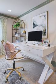 white desk home office. Sophisticated \u0026 Feminine Home Office | Honey We\u0027re Sita Montgomery White Desk C