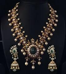 Antique Polki Jewellery Designs Antique Peacock Polki Haram Boutiquedesignerjewellery Com
