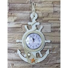 childrens wall clocks nautical beach