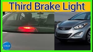 Hyundai Sonata 3rd Brake Light How To Change 3rd Third Center Brake Light Hyundai Elantra 2011 2016