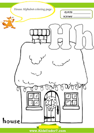 House Alphabet coloring pag