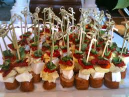 Appitezers Skewers Display Holiday Cocktail Party Light