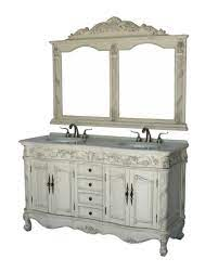 60 Inch Antique Style Double Sink Bathroom Vanity Set With Mirror Model 7660 C For Sale Online Ebay