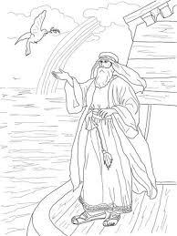 Noachs Duif Keert Terug Met Een Olijfblad Kleurplaat Bijbel