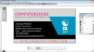Page Maker Design Images Computersadda Perfect Visiting Card Design In Adobe