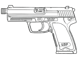 Gun Coloring Pages Broker Printable War Nerf Home Improvement Sheets