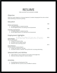 Resume For First Job Enchanting Objective For First Resume Student Job Template 28 28 Idiomax