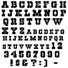 Cool Letters Stencils Cowboys Stencil