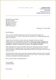 Email Sample Cover Letter For Resume