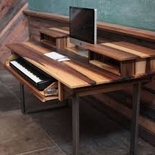 custom made audio ion desk w keyboard workstation shelf and rack units