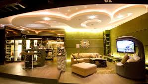 stunning lighting. Stunning Ceiling Design Using LED Lighting For Luxury Living Room Decorating Ideas With Green Wall Color And Stylish Bar O