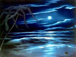 bob ross blue moon