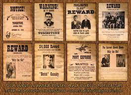 Museum Quality Old West Antiqued Wanted And Public Notice