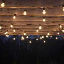 outdoor light for string lights for an outdoor wedding and string lights on an outdoor tree