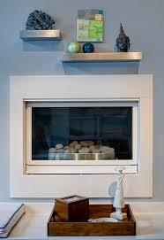 Fireplace Bio Ethanol Floating Frame Burner Box SublimFloating Fireplace