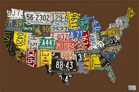 usa license plate map chocolate canvas wall art on license plate map wall art with usa license plate map chocolate canvas wall art by oopsy daisy