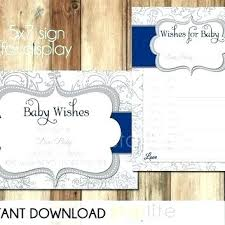Wishes For Baby Template Baby Wish Cards Template Wishes For Baby Boy Printable Template