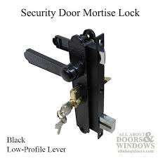 security door latches. Academy Security Door Mortise Lock - Complete W/ Key Cylinder Black Latches T