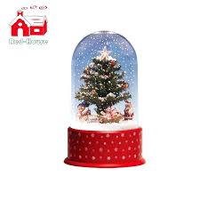 rotating christmas tree stand for 9 foot snowing with revolving snowmen and transparent cover Rotating Christmas Tree Stand For Foot Snowing With Revolving
