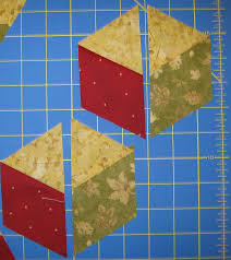 Baby Block Quilt Patterns Simple How To Make Quilt Baby Blocks With No Y Seams Using A 48 Degree Ruler