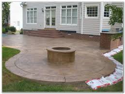 stamped concrete patio with fireplace. Stamped Concrete Patio With Fire Pit Fireplace O