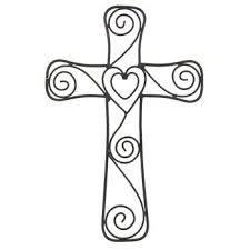 aunt chris products heart swirls metal cross wall mounted decor layered hearts in the middle use indoor or outdoor on black metal cross wall art with aunt chris products heart swirls metal cross wall mounted