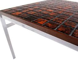 ... Latest Tile Top Coffee Table With Mid Century Danish Modern Chrome Base  Tile And Rosewood Top ...
