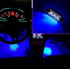 universal auto car universal 4x 3led vehicle interior base led mood light ambient light retrofit lamp car mood lighting