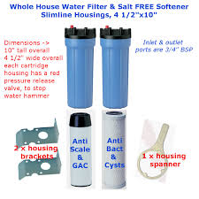 House Water Filter Whole House Slimline Water Filter Salt Free Water Softener