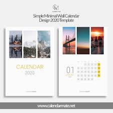 Wall Calendar Design Ideas 2019 Railey Simple Minimal Wall Calendar Design 2020 Template