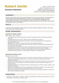 Overall, no matter their specialization, the job duties are similar. Assistant Underwriter Resume Samples Qwikresume