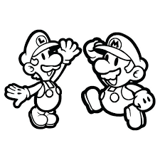 Mario Brothers Printable Coloring Pages Bros Coloring Pages