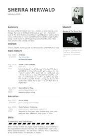 Actress Sample Resumes Classy Thumbnail Large Jpg 48 48 Cv Pinterest Free Creative Resume
