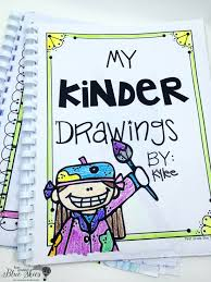 kids add their name and color the front i bound mine but you could hole punch and yarn to tie them together if you don t have a binding machine