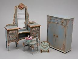 mini furniture. Hand Painted Shabby Chic And Victorian Dollhouse Miniature Furniture Accessories By Amsterdam Artist Alice Gegers Mini