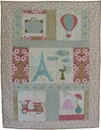 Baby Quilt Pattern for girls - Paris theme | Baby quilt patterns ... & Baby Quilt Pattern for girls - Paris theme Adamdwight.com