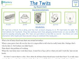 The Twits by Roald Dahl Comprehension KS2 by benserghin - Teaching ...