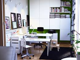 office workspace design. Stunning Ideas For Workspace Design : White And Green Office Rooms
