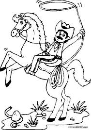 Small Picture Cowboy on bucking horse coloring pages Hellokidscom