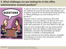 Interview Questions And Answers For Office Assistant Top 10 Office Administrative Assistant Interview Questions