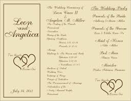Ceremony Template 002 Template Ideas Catholic Wedding Ceremony Booklet Free