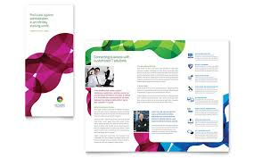Network Administration Tri Fold Brochure Template Design
