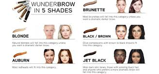 Wunderbrow Shades Chart Wunderbrow Perfect Eyebrows In 2 Mins Brunette