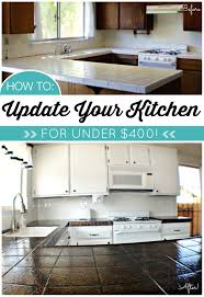 how to paint tile floor diy kitchen makeover for less than 400 including painted