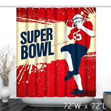 football shower curtain super bowl grunge player bathroom curtains design football shower curtain