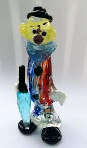clown glass image 0 murano glass clown ashtray for