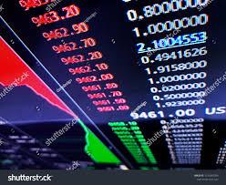 Dare Stock Chart Financial Graph On Computer Monitor Screen Stock Photo Edit