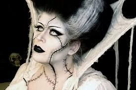 golstarling bride of frankenstein makeup gorgeous job